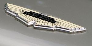 Aston Brown Logo On Grey Car Vehicle James Bond © Ben Durant Dreamstime