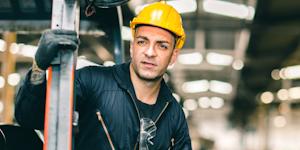 Industrial Worker Guy In Helmet In Facility © Korn Vitthayanukarun Dreamstime