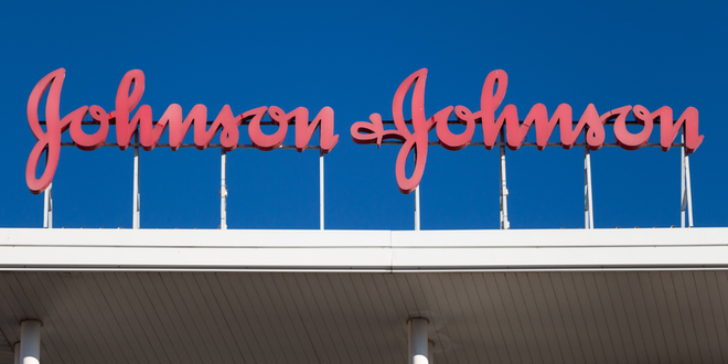Johnson And Johnson Building Sign Red Rext Blue Pharmaceutical J+j © Manuel Esteban Dreamstime