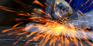 Metal Industry Grinding Worker Sparks Employment © Kamonrutm Dreamstime
