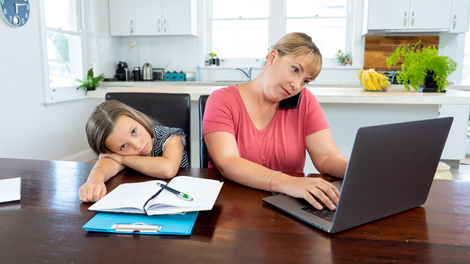 Mother Working From Home With Kid 60469dd2722c7