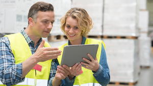 Warehouse Workers Using Tablet 605d07bd72ccc