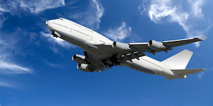 Boeing 747 Commercial Aircraft Taking Off Blue Skies © Rui Matos Dreamstime