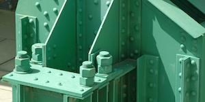 Bridge Steel Girders Green Metal Infrastructure Industrial Painted Metal © Jolin Dreamstime