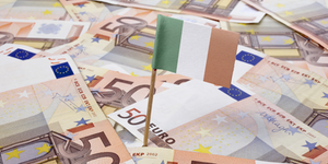 Ireland Irish Flag In Euros Concept © Trustieee Dreamstime