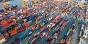 Shipping Shipyard Containers Trade International Supply Port © Bianco Blue Dreamstime