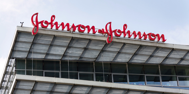Johnson Johnson Corporate Logo On Building Headquarters© Josefkubes Dreamstime