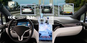 Self Driving Car Heads Up Display Abstract Concept © Scharfsinn86 Dreamstime