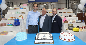 Ryan, Frank and Paul, at the company's cake-filled 75th anniversity celebration.
