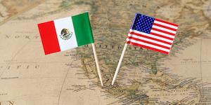 Us Mexico Flags© Sjankauskas Dreamstime