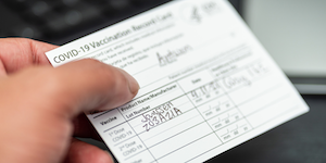 Covid Vaccine Card Filled In Janssen Antwon Mcmullen Dreamstime