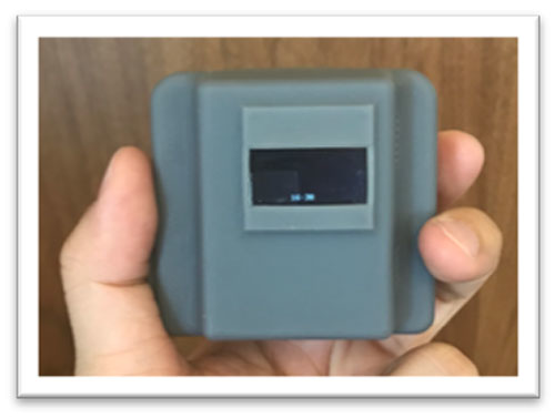 An optical-based sensor monitors particulate matter concentrations in real time.