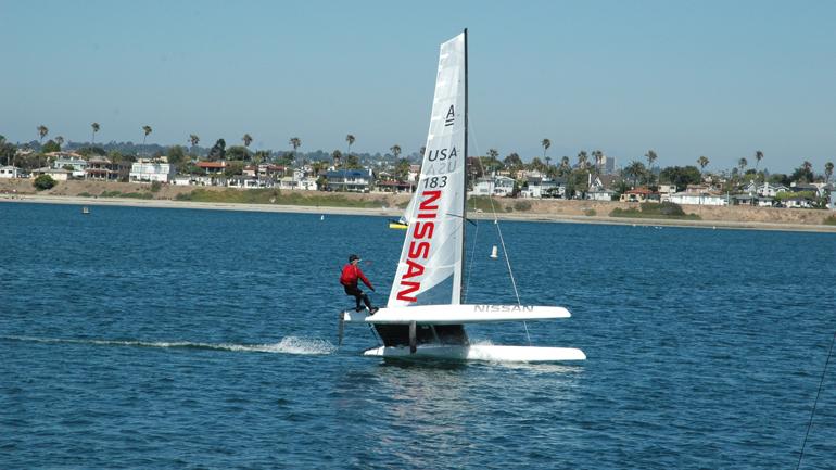 Matt Struble conçoit et construit des catamarans de course et a remporté trois titres de champion du monde.