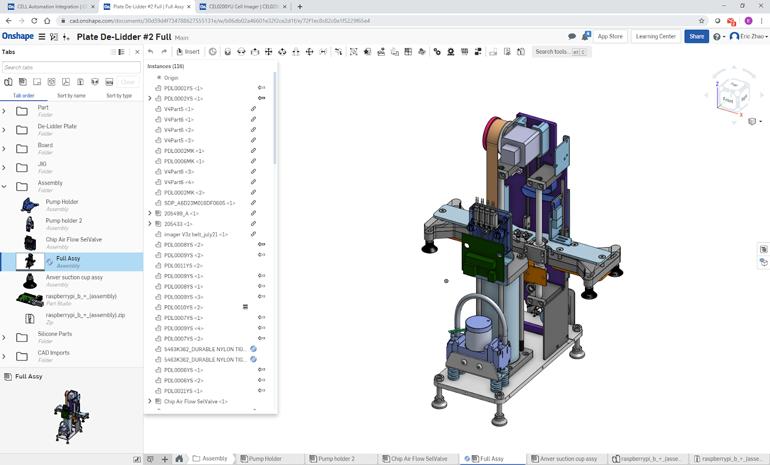 Formulatrix s'est appuyé sur la CAO basée sur le cloud pour ses outils de collaboration en temps réel. Sur la photo, un composant de machine qui a retiré les couvercles de milliers de minuscules tubes à essai.