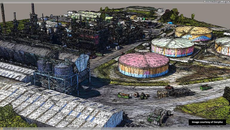 L'incorporation de modèles 3D issus de la photographie aérienne, comme ContextCapture de Bentley, peut aider à comprendre et à analyser l'impact de situations réelles.