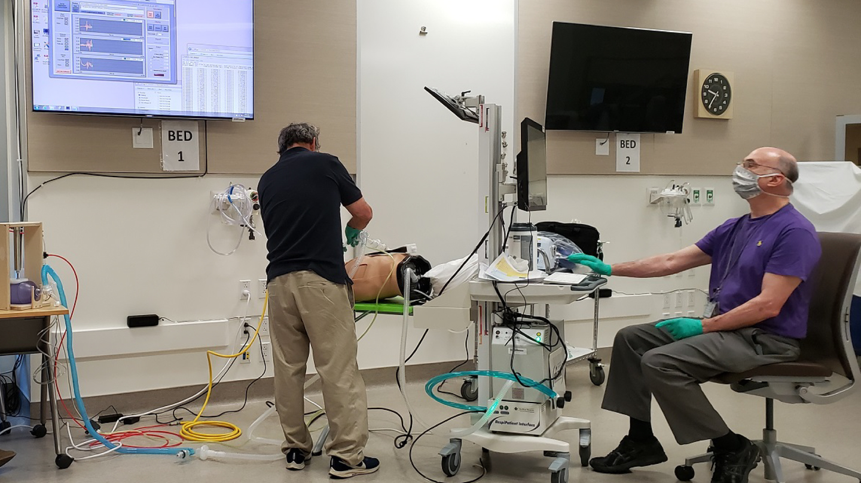 Le ventilateur de pénurie aiguë du SLAC est testé dans le système de soins de santé VA Palo Alto.