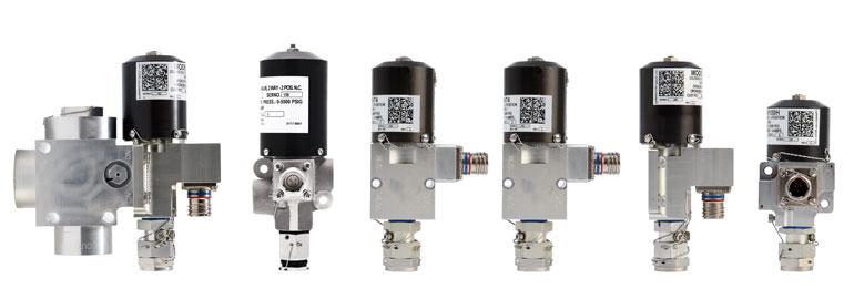 Série Marotta CoRe Flow Controls: Electrovannes disponibles dans le commerce et réutilisables.