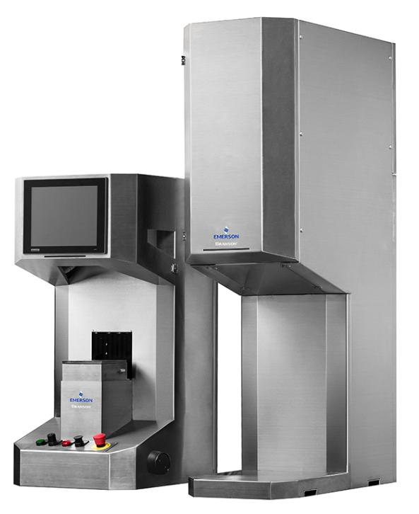 La soudeuse laser Branson GLX Micro d'Emerson est la plus petite des cinq unités de la série GLX.  L'unité de soudage (à gauche) comprend un écran tactile couleur, une table élévatrice de 150 × 150 mm et des forces de serrage jusqu'à 0,05 kN.  Celles-ci en font un excellent choix pour le soudage de pièces microfluidiques destinées à des applications médicales.  L'unité de droite contient la source laser et l'alimentation.