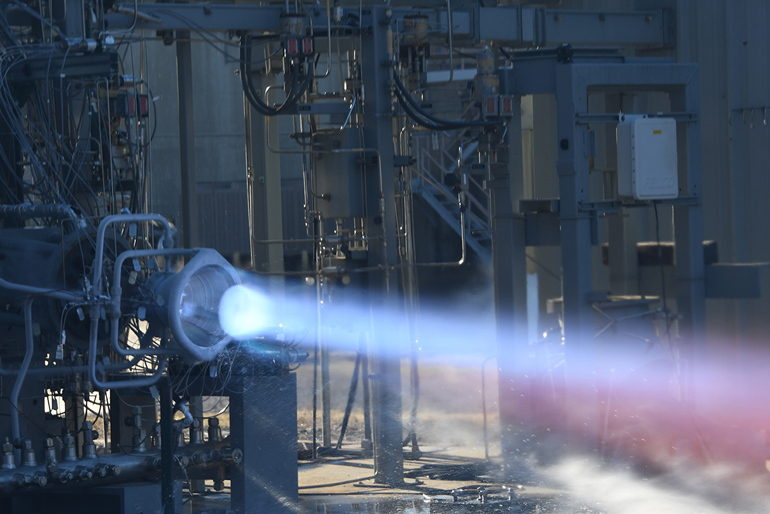 Hot-fire testing of a 3D-printed combustion chamber and a nozzle made of a high-strength, hydrogen-resistant alloy.