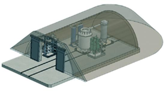 Concept de conception du réacteur nucléaire avancé BWXT.