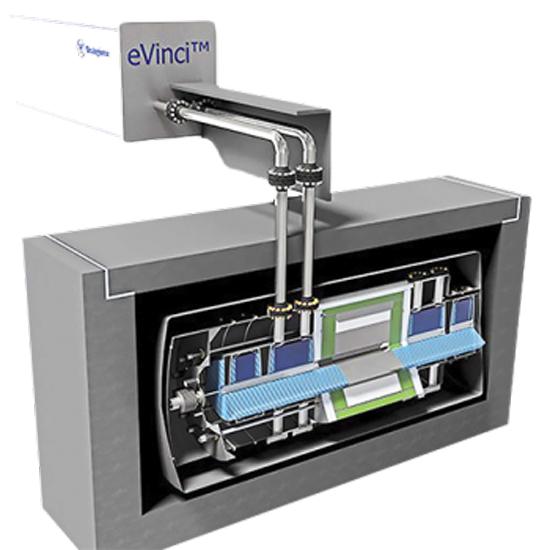 Concept de design du microréacteur Westinghouse eVinci.