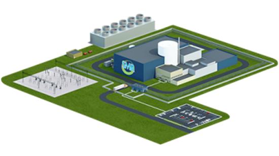 Concept de conception de la centrale nucléaire Holtec SMR-160.