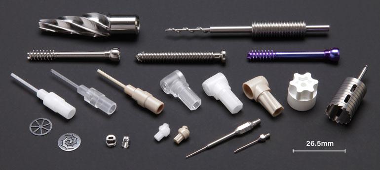 复杂的零件可以用钛和其他难加工的材料加工而成。