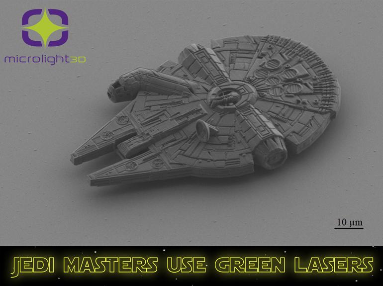 A 3D-printed replica of the Millennium Falcon.