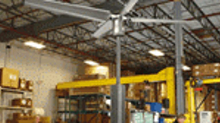 Floor Mounted Hvls Fan Material Handling And Logistics