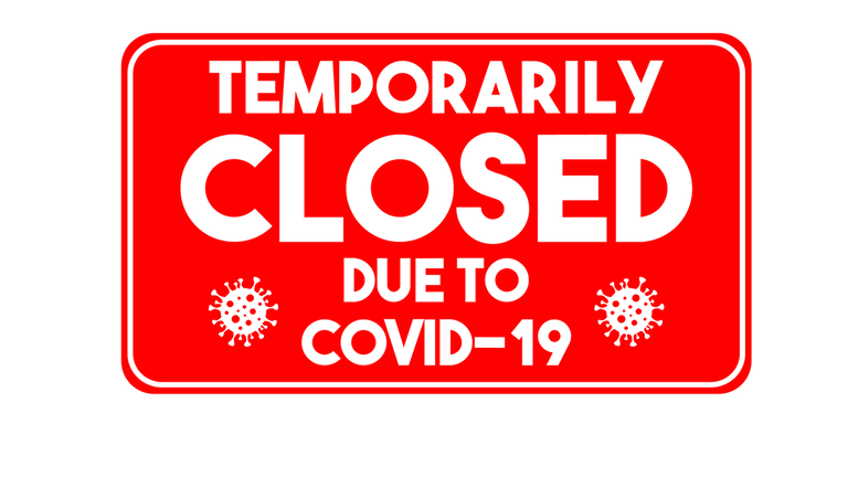 Business Closed Covid Sign