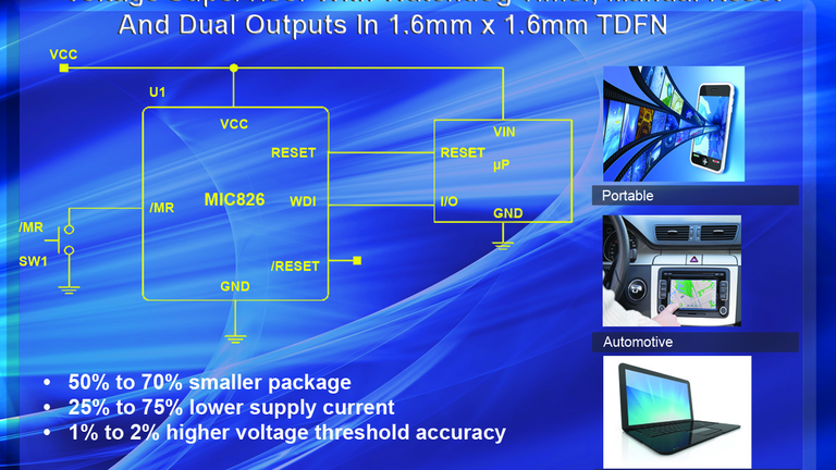 High Accuracy, Ultra-Small, Voltage Supervisor | Power Electronics