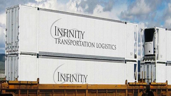 Infinity Launches New Refrigerated Intermodal Container Service By Rail Refrigerated Transporter