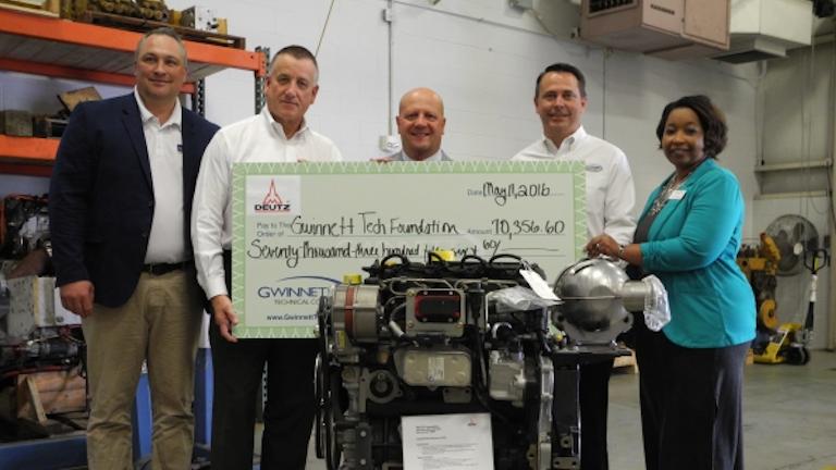 Deutz Partners With Gwinnett Technical College To Educate Diesel Engine Technicians Rental Equipment Register