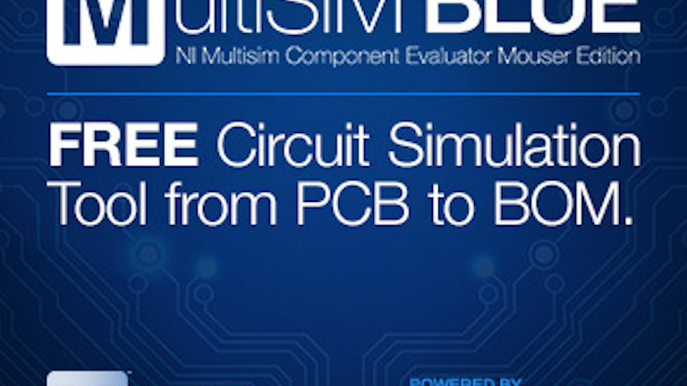 Mouser To Launch Ni Multisim Blue Source Today