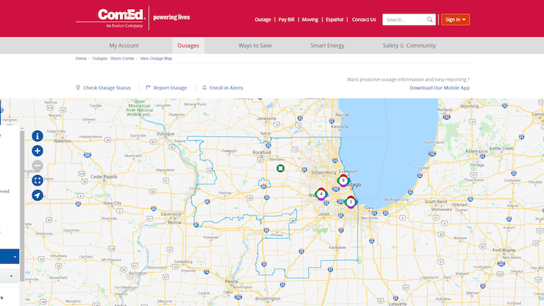 Comed Power Outage Map ComEd Enhances Online Interactive Outage Map | T&D World