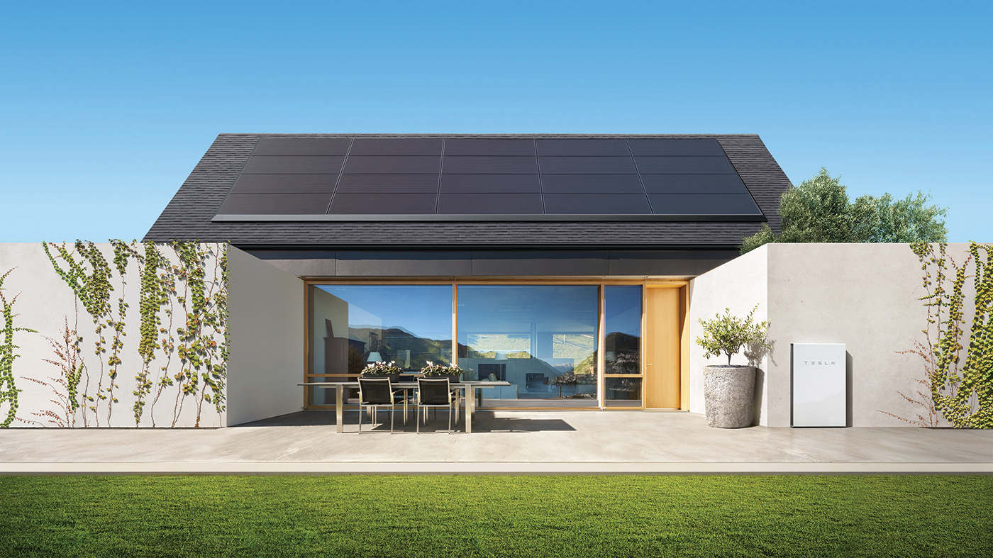 Tesla — Powerwall 2 Home with solar panels.