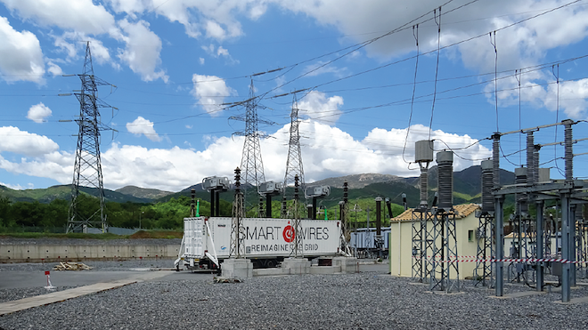 Smart Wires mobile unit installed at IPTO's substation.