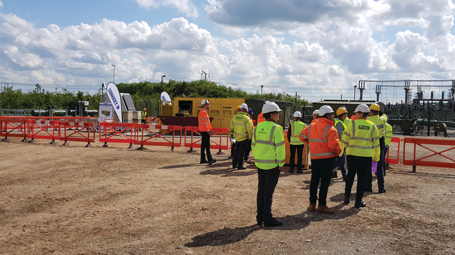 Workers being introduced to the new CLP at the Nationtal Grid Academy in June.