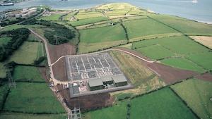 HVDC converter station in Ballycronan More, Northern Ireland.