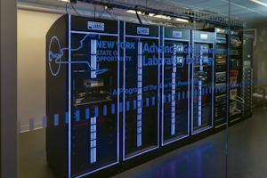 Advanced grid innovation lab for energy data center room.