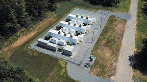 Aerial view of Key Capture Energy's KCE NY 1 battery storage project located in Saratoga County, New York.