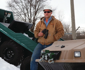 Inspector uses ATV for off-road inspections.