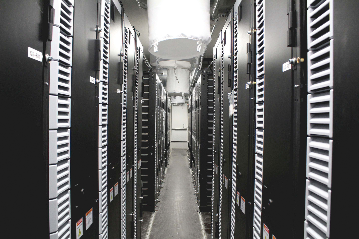 Interior view of Key Capture Energy's KCE NY 1 battery storage project.