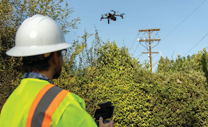 In addition to foot patrol crews, trucks and helicopters, drones are used to inspect electrical equipment in high fire-risk areas.