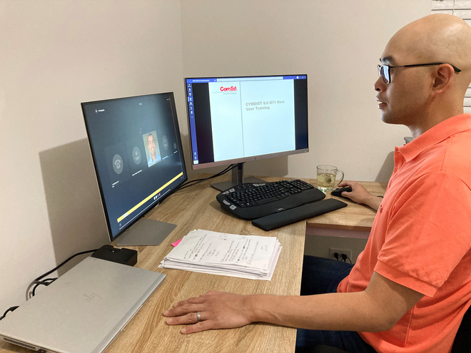 ComEd DER engineer enhances professional and technical skills at home through remote learning.