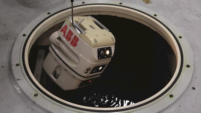 T Xplore Submersible Robot Goes Into Power Transformer Hitachi Abb Power Grids