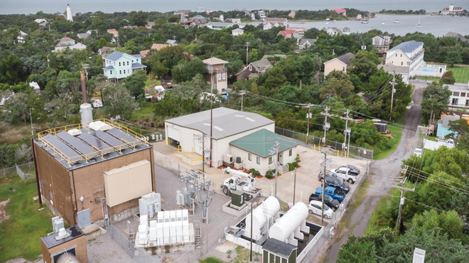 To maximize the project's real estate, NCEMC and Tideland EMC installed the solar array on the roof of the building housing the diesel generator.