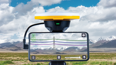 The AR tool visualizes a 3D model of a transmission line design against the backdrop of the physical world.