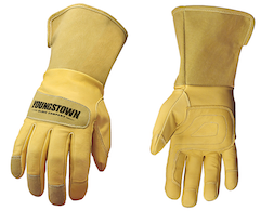 Youngstown 11 3255 60 Leather Utility Wide Cuff Lineman Performance Work Glove