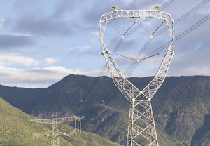Power lines in Yunna, China.